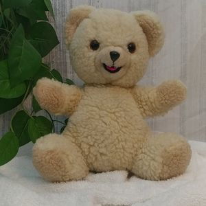 Vintage Snuggle Bear 1986 Hand Puppet